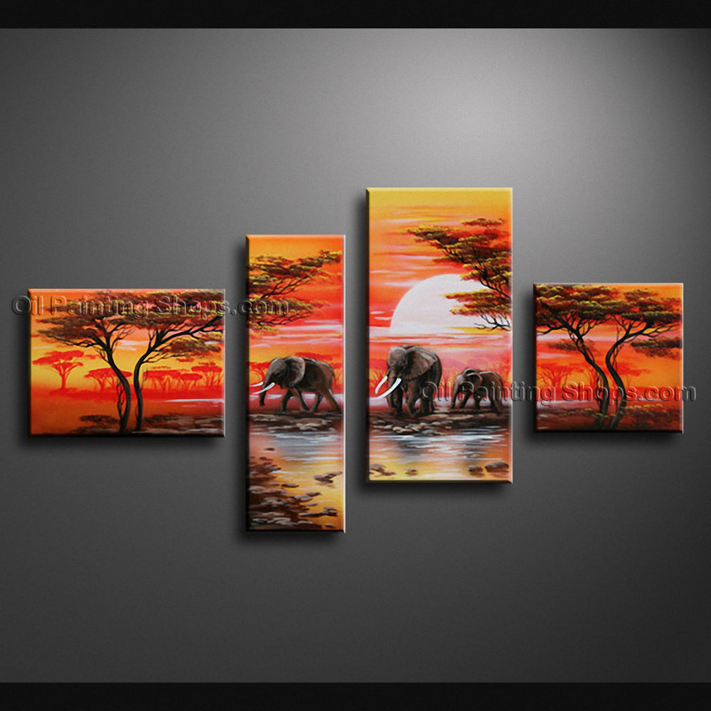 Handmade Large Contemporary Wall Art Landscape Painting Decoration Ideas