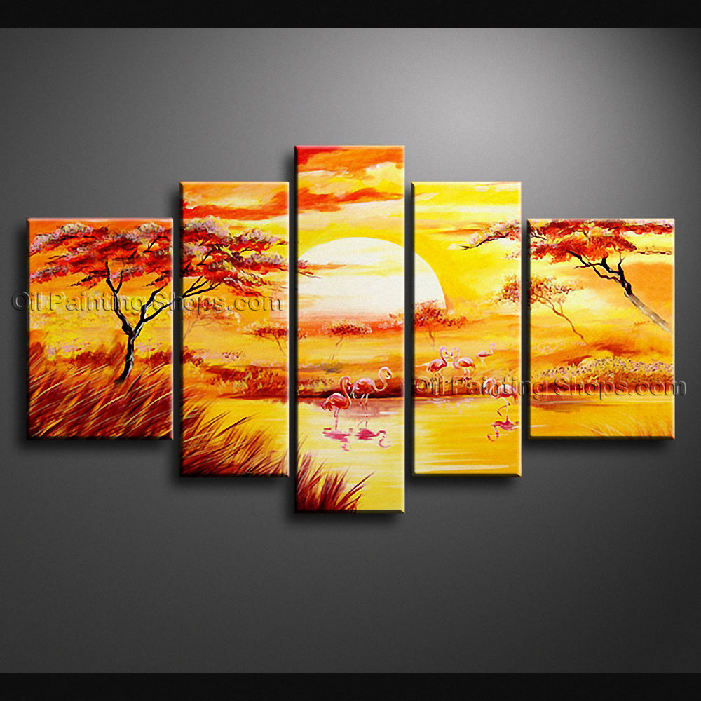 Handmade Large Contemporary Wall Art Landscape Painting Canvas ...