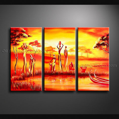 Handmade Stunning Contemporary Wall Art Landscape Painting Ready To Hang