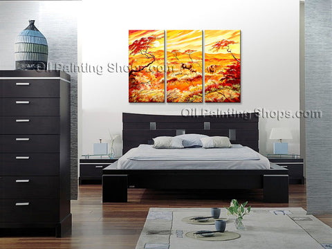 Handmade Elegant Contemporary Wall Art Landscape Painting Ready To Hang