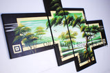 4 Pieces Contemporary Wall Art Landscape Painting Tree Decoration Ideas