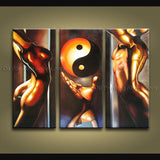 Triptych Feng Shui Zen Art Contemporary Painting Interior Home Decor