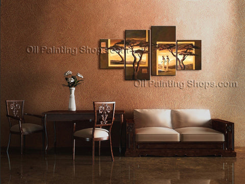 Hand-painted Large Contemporary Wall Art Landscape Painting Ready To Hang