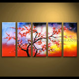 original abstract feng shui unique painting floral tree plum blossom modern