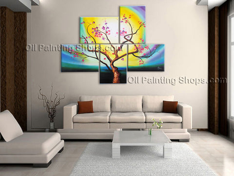 5 Pieces Contemporary Wall Art Floral Plum Blossom Artist Artworks