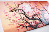 Tetraptych Contemporary Wall Art Landscape Painting Tree Gallery Wrapped