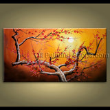 original oil painting unique abstract floral tree contemporary large wall art
