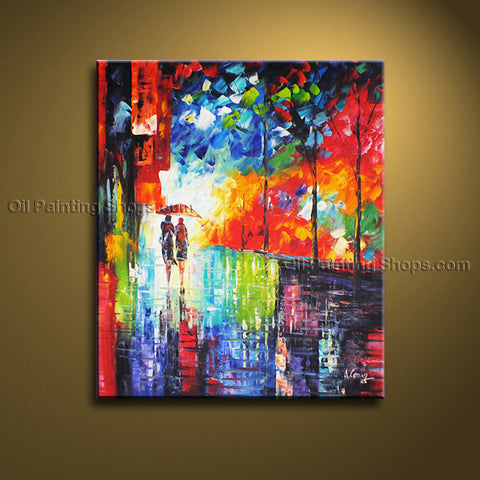 Elegant Contemporary Wall Art Landscape Painting Cityscape Decoration Idea