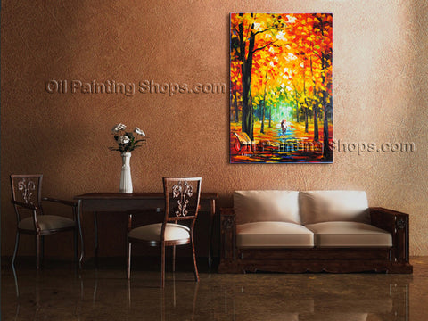 Astonishing Contemporary Wall Art Landscape Painting Park Landscape Scene