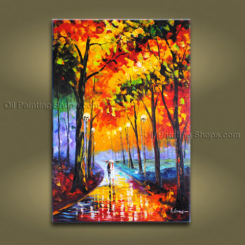 Beautiful Contemporary Wall Art Landscape Painting Park Tree Paintings