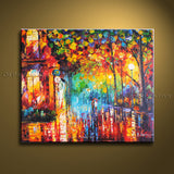 Elegant Contemporary Wall Art Landscape Painting Park Ready To Hang