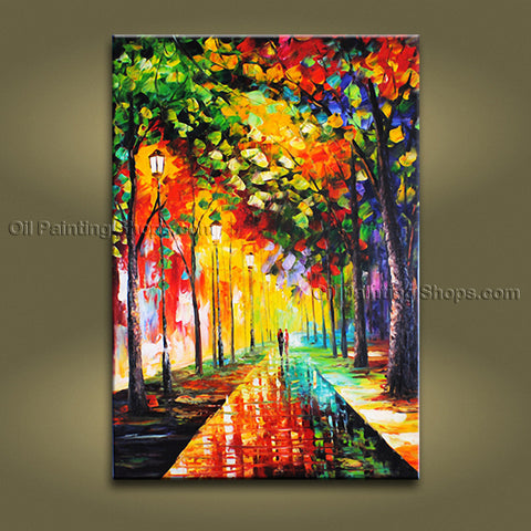 Amazing Contemporary Wall Art Landscape Painting Park Landscape Scene