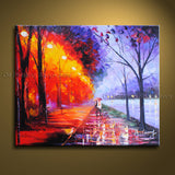 Elegant Contemporary Wall Art Landscape Painting Park Contemporary Decor