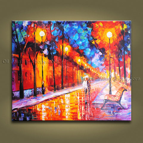 Amazing Contemporary Wall Art Landscape Painting Park On Canvas Artworks