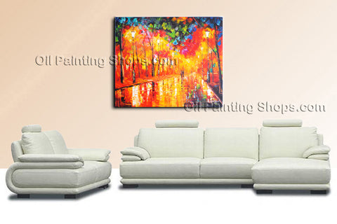 Elegant Contemporary Wall Art Landscape Painting Park On Canvas Artworks