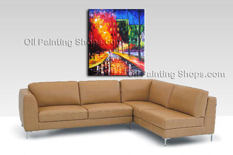 Amazing Contemporary Wall Art Landscape Painting Park Ready To Hang