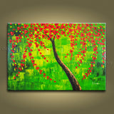 Elegant Contemporary Wall Art Landscape Painting Tree Decoration Ideas
