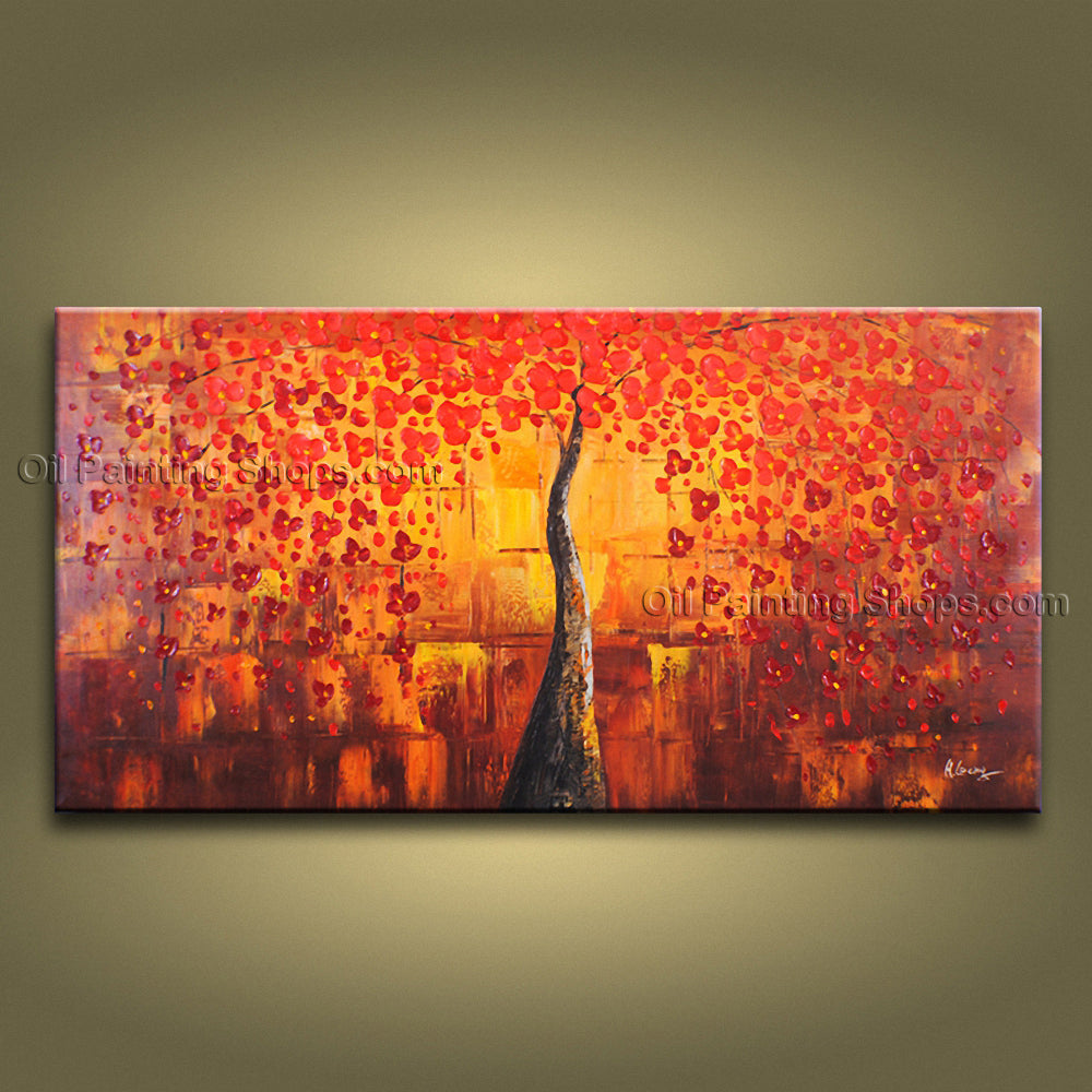 Beautiful Contemporary Wall Art Landscape Painting Tree Ready To Hang