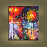 Stunning Contemporary Wall Art Landscape Painting Cityscape Inner Framed