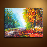 Stunning Contemporary Wall Art Landscape Painting Cityscape Stretched