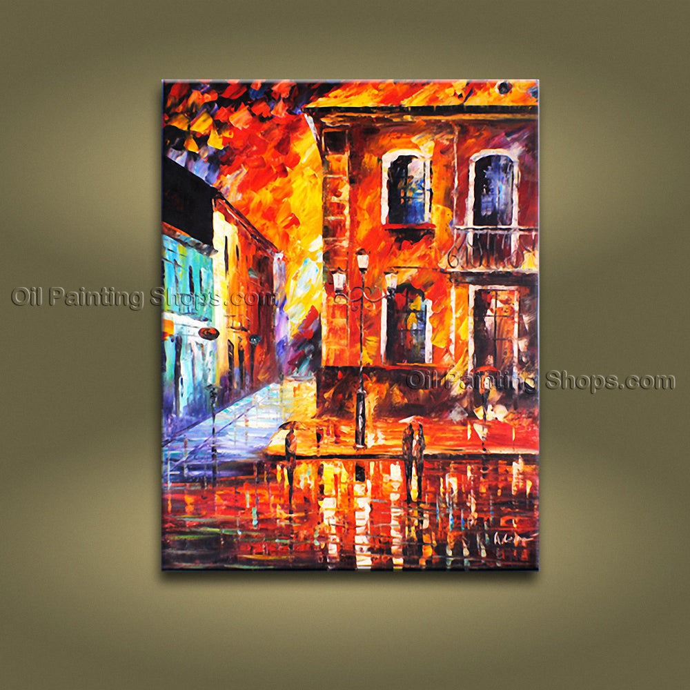 Contemporary Wall Art Landscape Painting Cityscape Gallery Wrapped