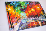 Amazing Contemporary Wall Art Landscape Painting Cityscape Inner Stretched
