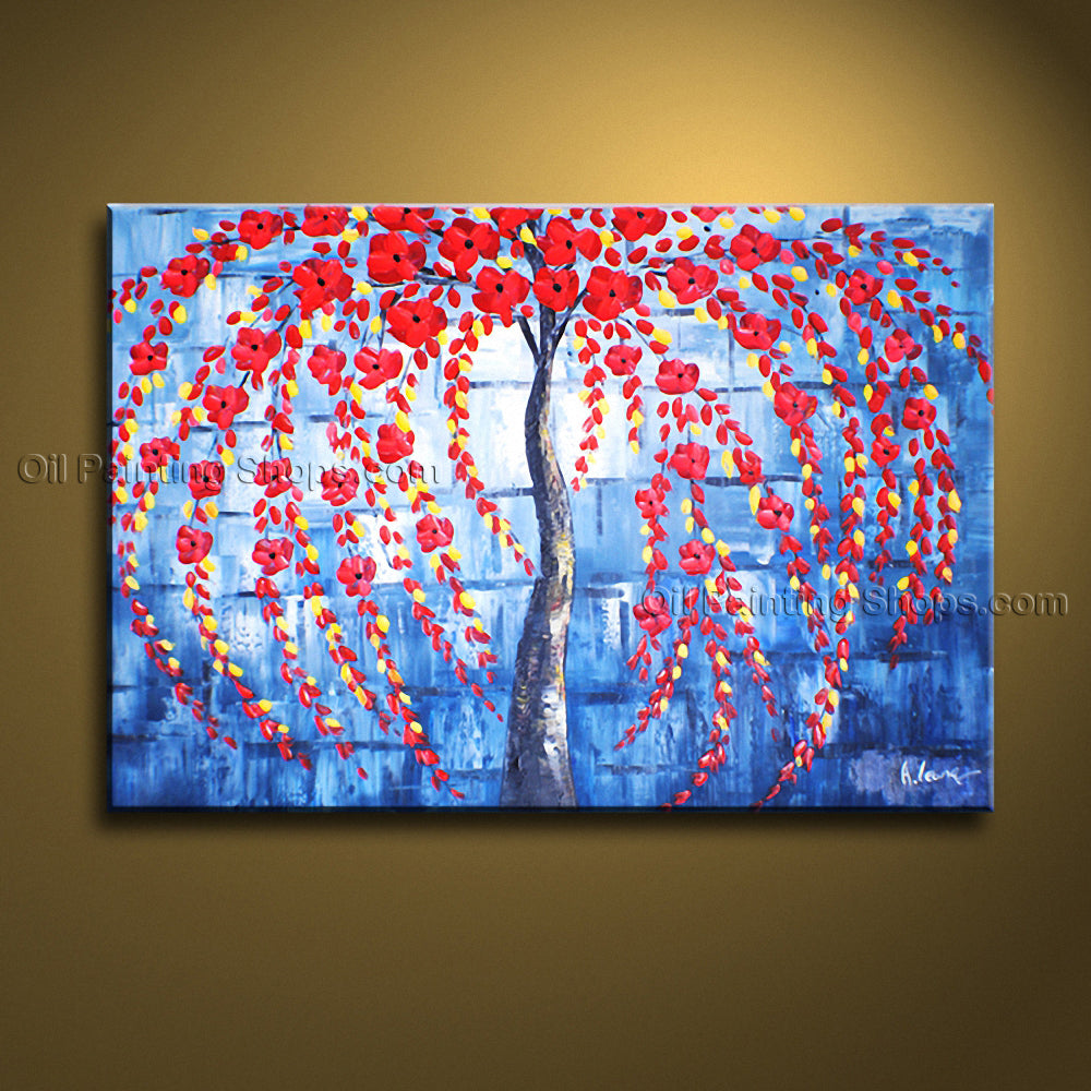 Elegant Contemporary Wall Art Landscape Painting Tree Inner Stretched
