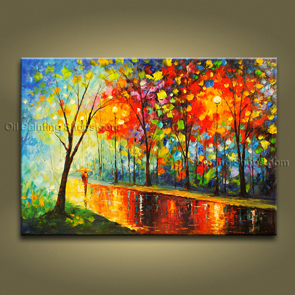 Astonishing Contemporary Wall Art Landscape Park Contemporary Decor