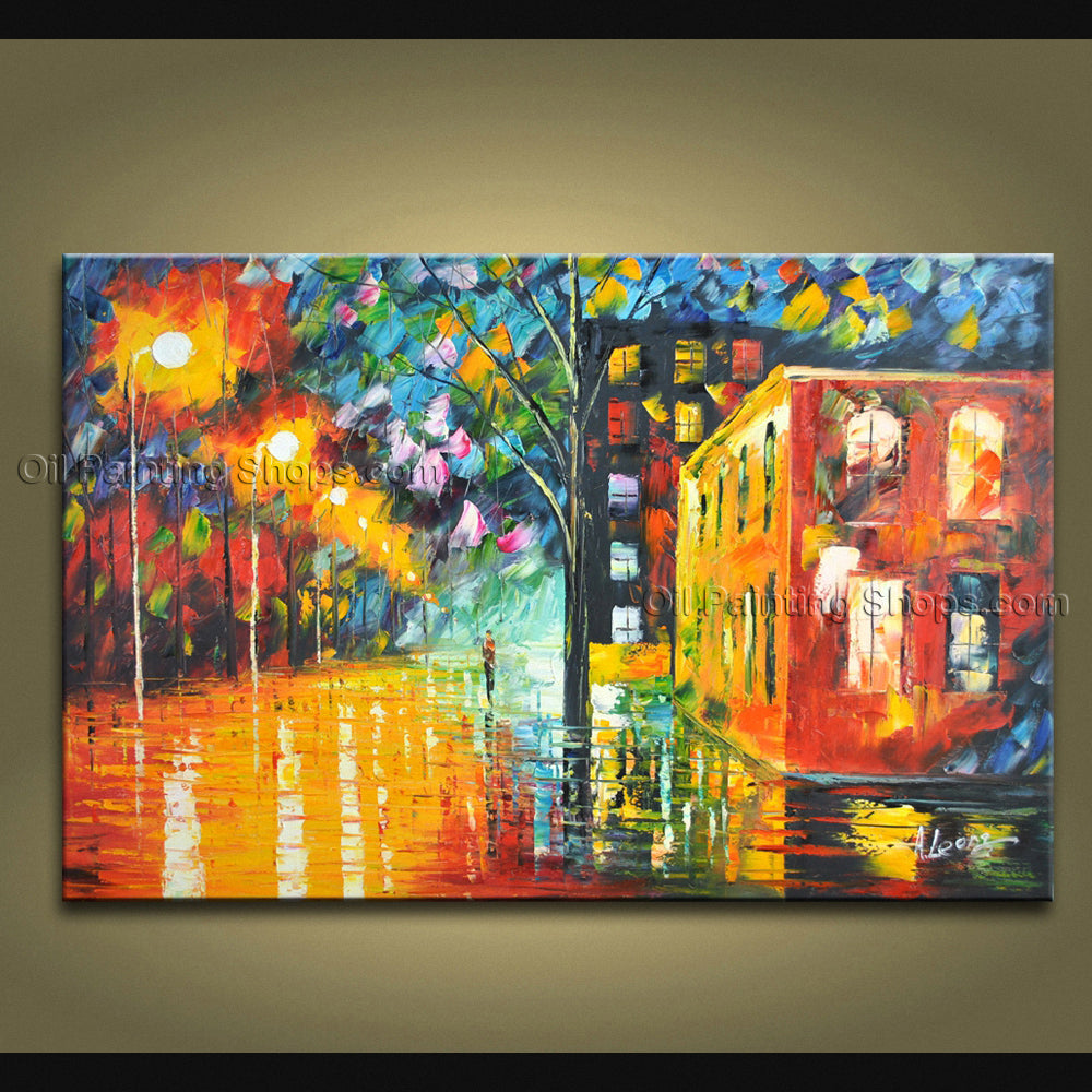 Handmade Stunning Contemporary Wall Art Landscape Painting Oil On Canvas