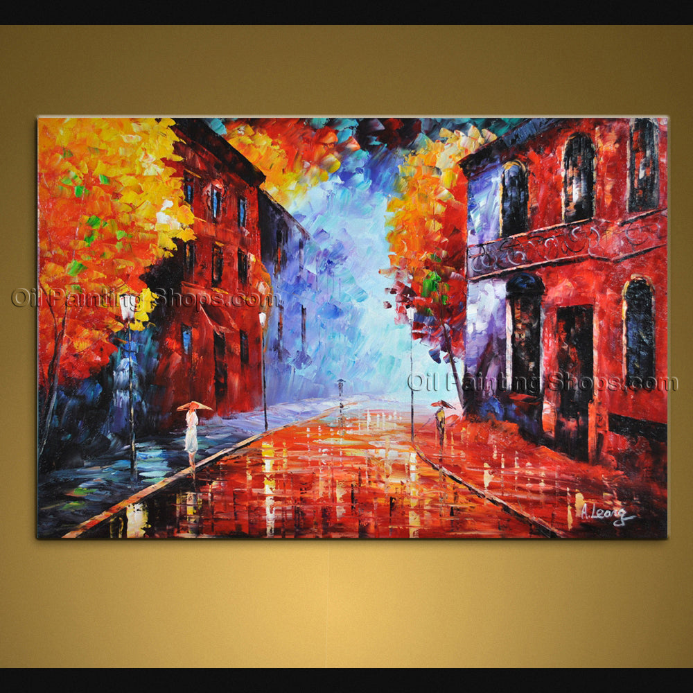 Handmade Amazing Contemporary Wall Art Landscape Painting Gallery Wrapped