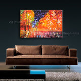 Handmade Stunning Contemporary Wall Art Landscape Painting Gallery Wrapped