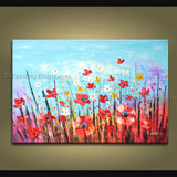 Beautiful Contemporary Wall Art Floral Painting Daisy Flower Paintings