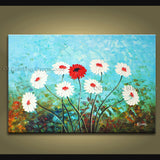 Handmade Stunning Contemporary Wall Art Floral Painting Flower On Canvas