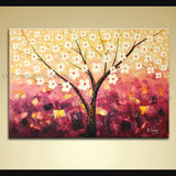 original one of a kind abstract floral painting on canvas contemporary wall art