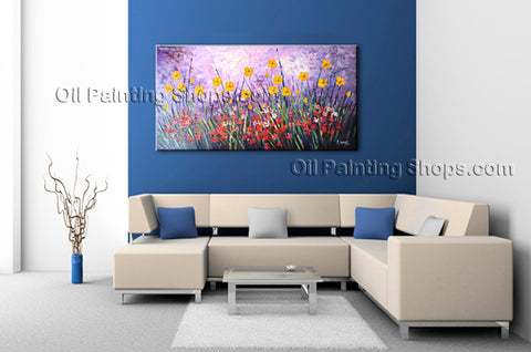 Astonishing Contemporary Wall Art Landscape Painting Gallery Wrapped