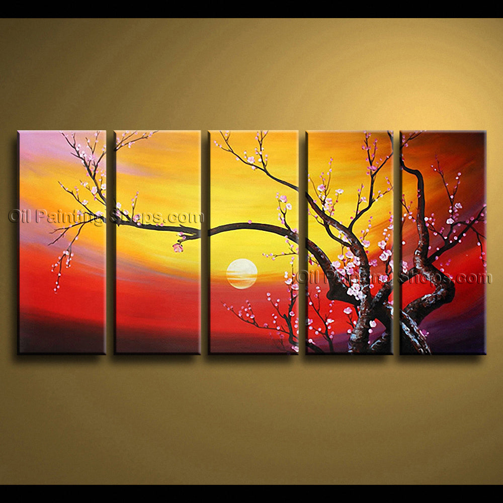 Large Contemporary Wall Art Floral Painting Plum Blossom Contemporary