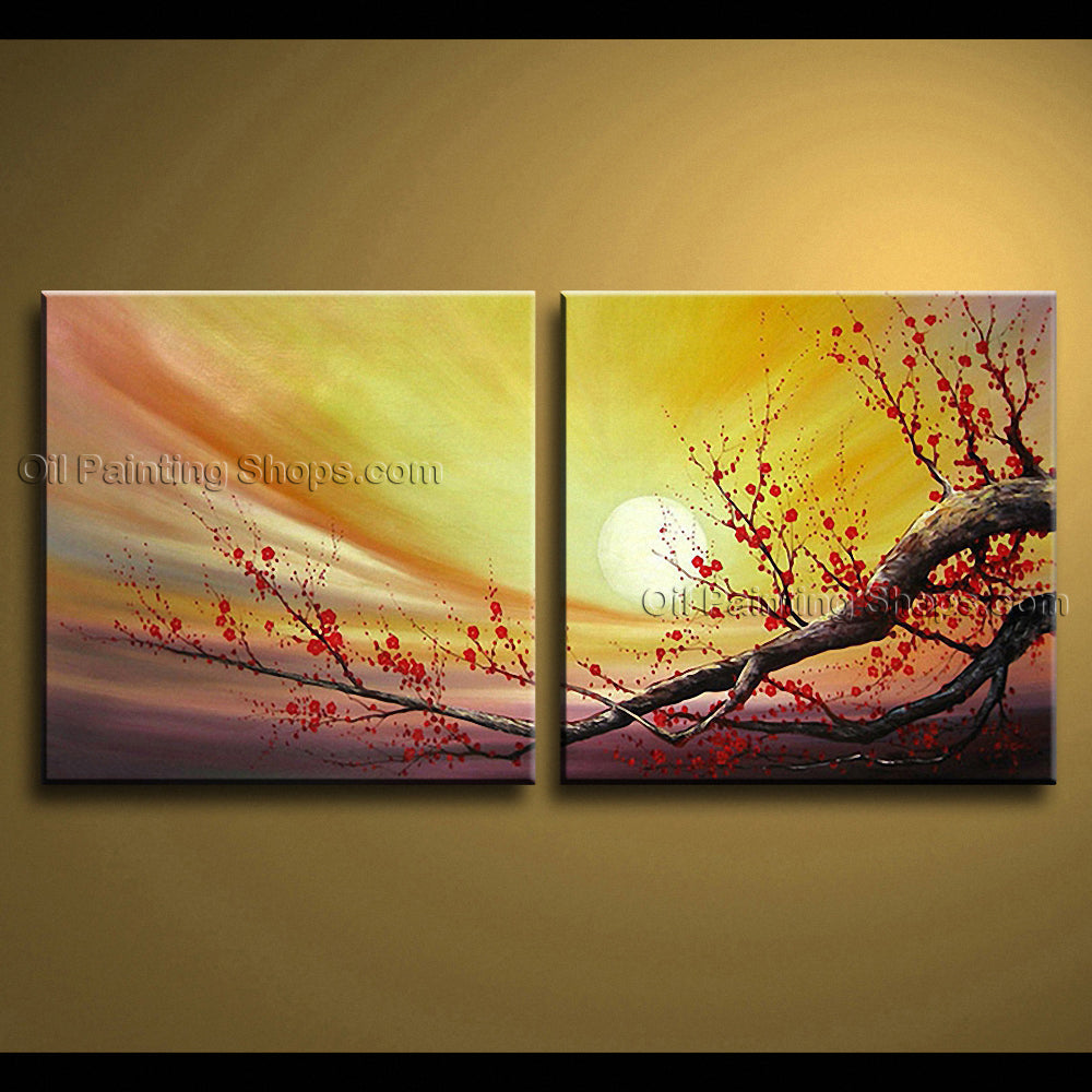 Astonishing Contemporary Wall Art Floral Cherry Blossom Artist ...