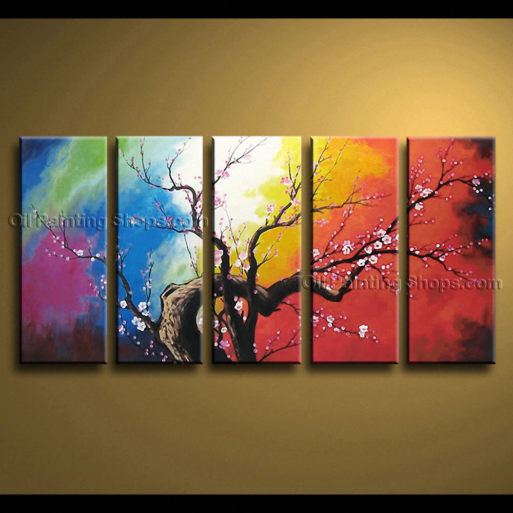 Large Contemporary Wall Art Floral Painting Plum Blossom Artist Artworks