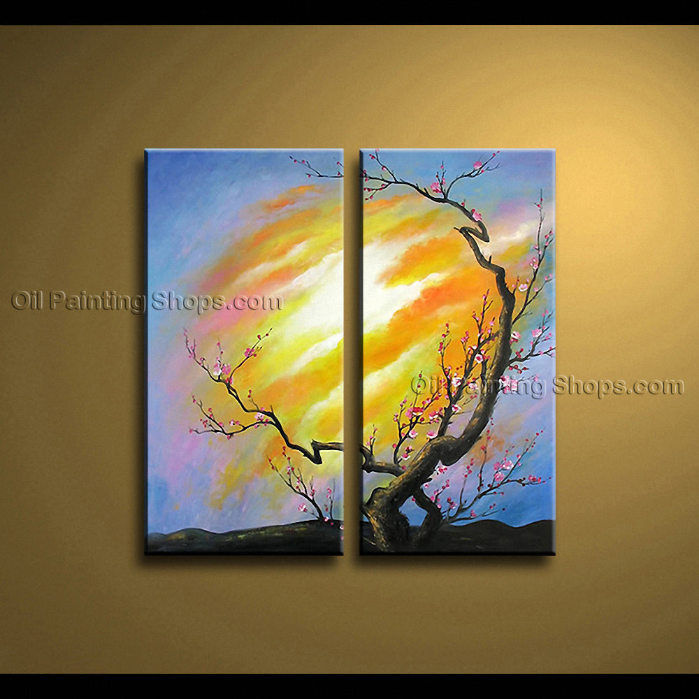 Stunning Contemporary Wall Art Floral Painting Plum Blossom Oil On ...