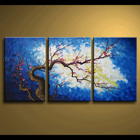 Stunning Contemporary Wall Art Floral Painting Plum Blossom Tree Paintings