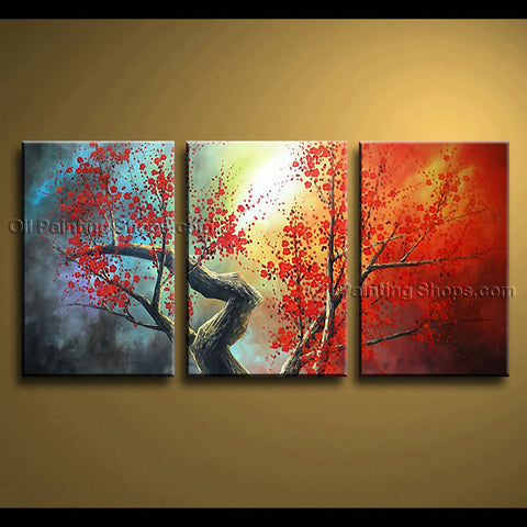Beautiful Contemporary Wall Art Floral Cherry Blossom Tree Paintings