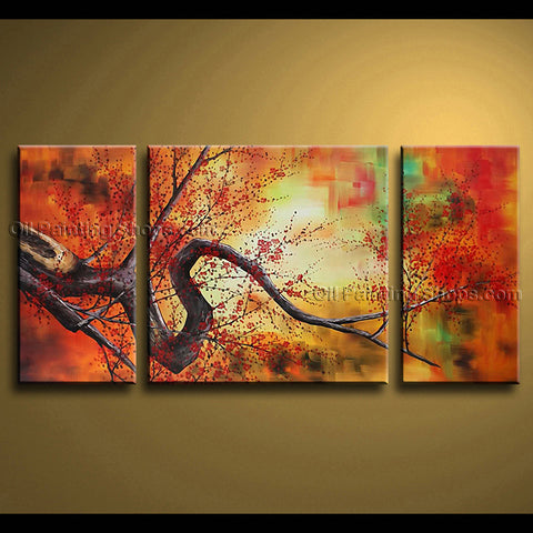 Elegant Contemporary Wall Art Floral Cherry Blossom Decoration Ideas