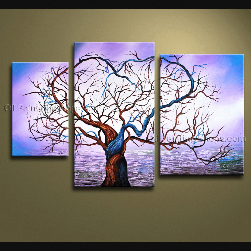 hand painted abstract floral tree oil painting on canvas large wall art modern