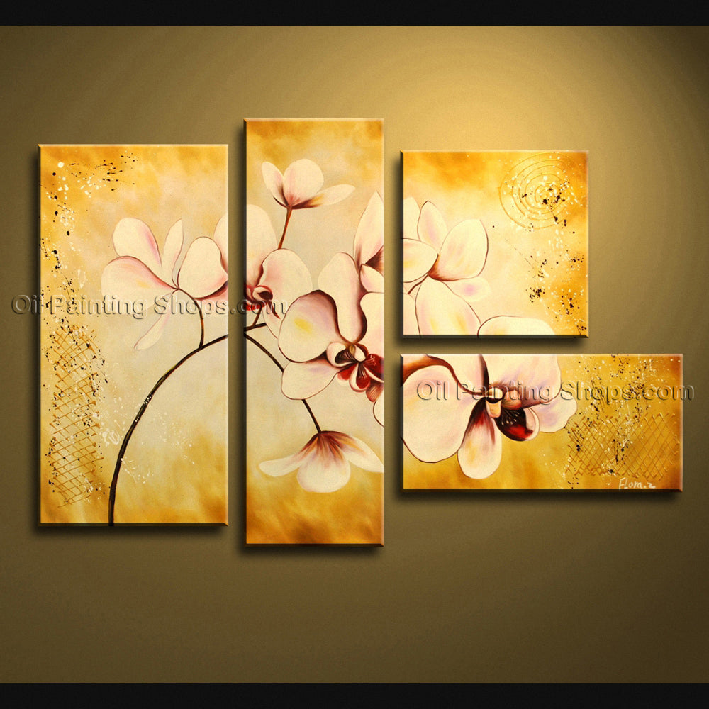 Large Contemporary Wall Art Floral Painting Orchid Contemporary ...