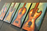 Hand-painted 4 Pieces Modern Abstract Painting Wall Art Artwork Pictures