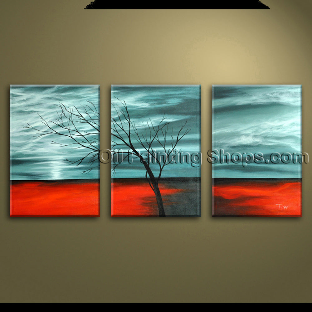 Hand Painted Contemporary Wall Art Seascape Oil Painting Beach Inner Framed