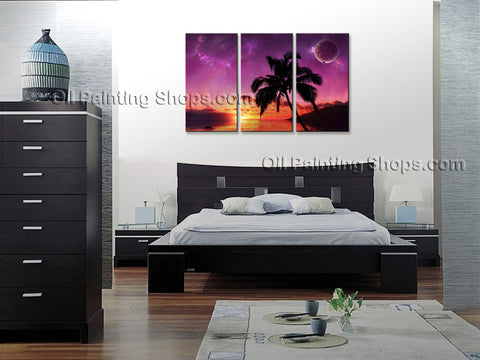 Stunning Contemporary Wall Art Seascape Painting Hawaii Beach Ocean Waves