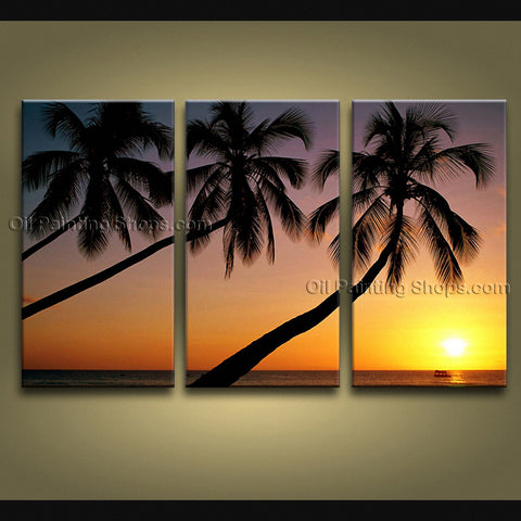 Stunning Contemporary Wall Art Seascape Painting Hawaii Beach Oil Canvas