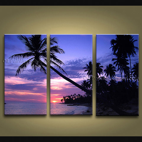 Beautiful Contemporary Wall Art Seascape Painting Hawaii Beach On Canvas