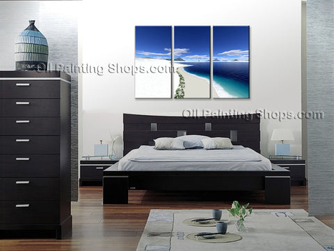 Stunning Contemporary Wall Art Seascape Painting Beach Ocean Waves